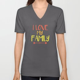 Saying Family Love Unisex V-Neck