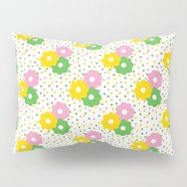 60s Ditsy Daisies + Dots Pillow Sham