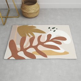Abstract Plant Life II Rug