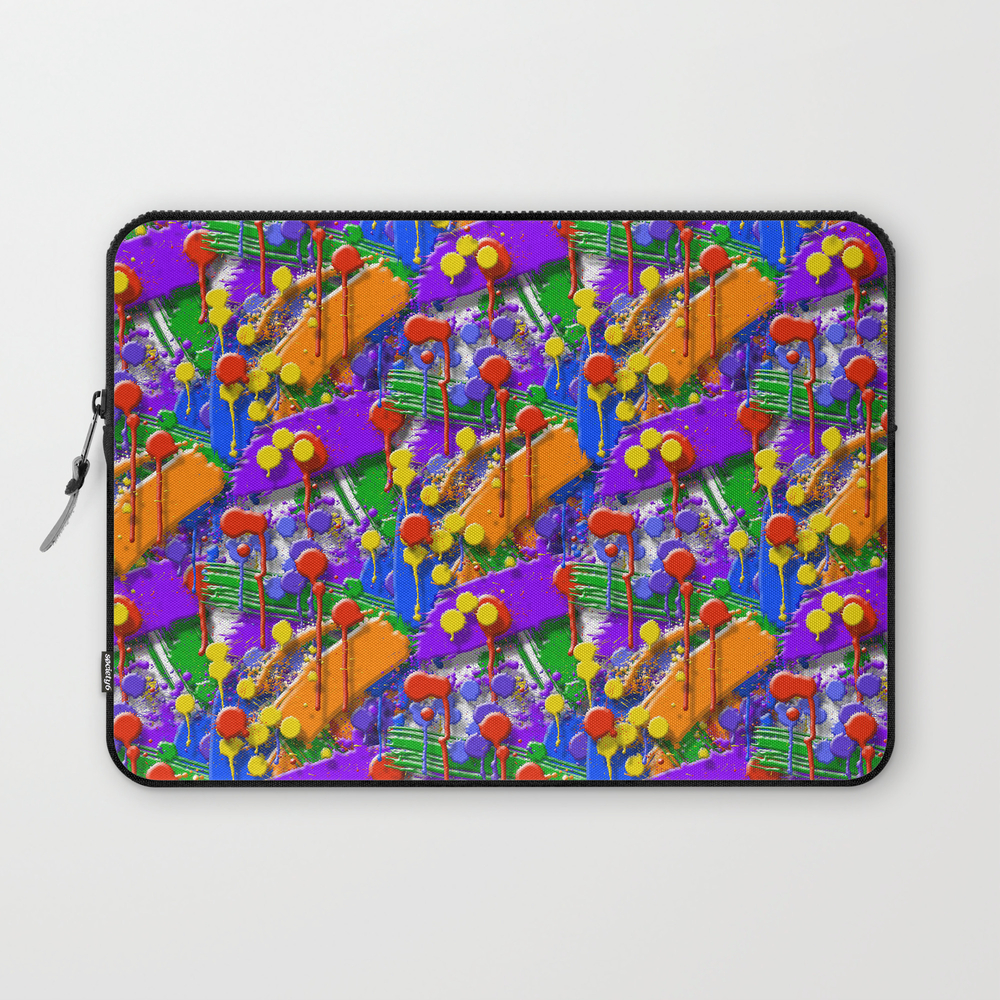The Big O (drip Porn Pattern) Laptop Sleeve LSV856007