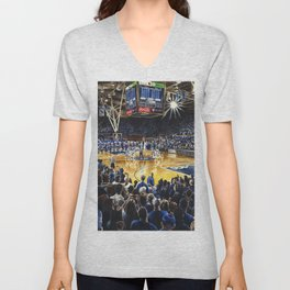 Tip-off, UNC at Duke Unisex V-Neck