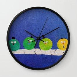 Four Fat Chaps Wall Clock