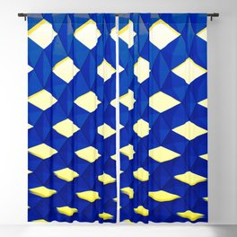 Trapez 2/5 Blue & Yellow by Brian Vegas Blackout Curtain
