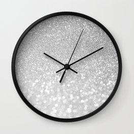Diamonds are girls best friends III- Silver elegant glitter effect Wall Clock