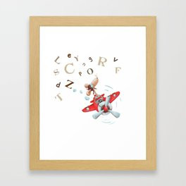 Oscar duvet cover Framed Art Print