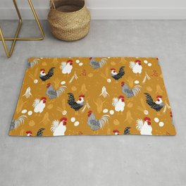Rooster Roundup Rug