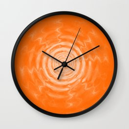 Ripples_Orange Wall Clock