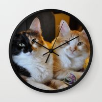 whisky Wall Clocks featuring Whisky and Gypsy - Rescued by talonJstudios