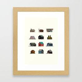 Cabins Framed Art Print