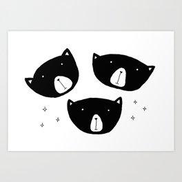 Black Bears Art Print