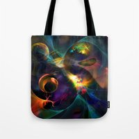universe Tote Bags featuring Universe by Robin Curtiss