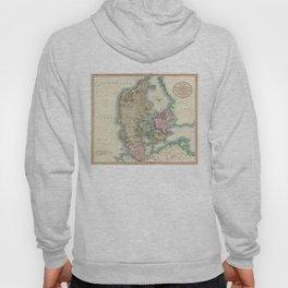 Vintage Map of Denmark (1801)  Hoody