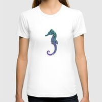 seahorse T-shirts featuring SEAhorse by Monika Strigel