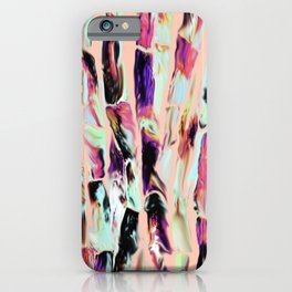 Marbling Sugarcane Peach iPhone Case
