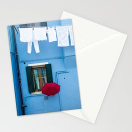 Burano, Italy Laundry Day Stationery Cards