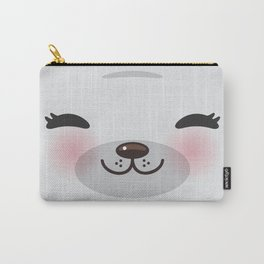 Kawaii funny gray seal Carry-All Pouch
