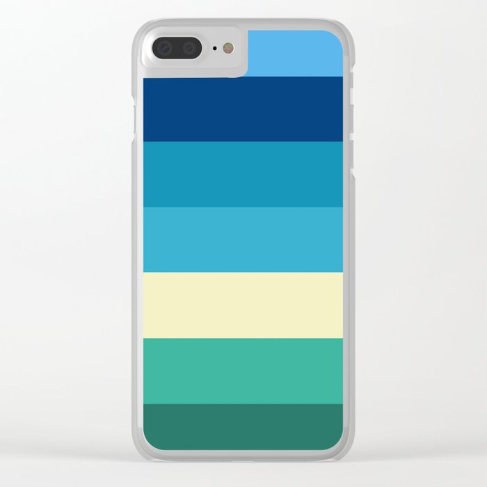 Abstract #409 Beach Colors Clear iPhone Case