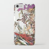spawn iPhone & iPod Cases featuring Spawn 9 cover by Mr D's Abstract Adventures