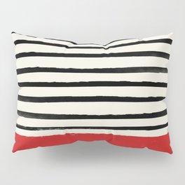 Red Chili x Stripes Pillow Sham