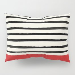Red Chili x Stripes Pillow Sham