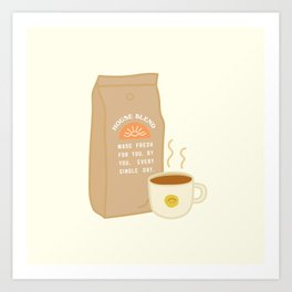 House Blend Coffee Art Print