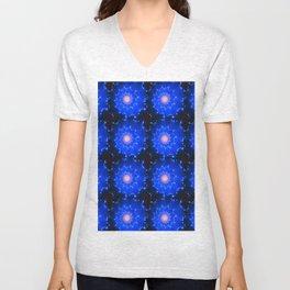 Mosaic in Blue Unisex V-Neck