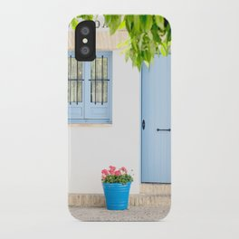 Blue and light iPhone Case