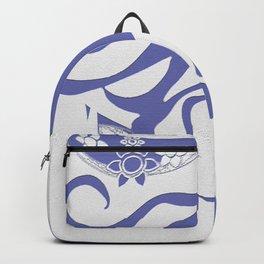 Vintage 70s Style Flower Power. Fashion Design Backpack