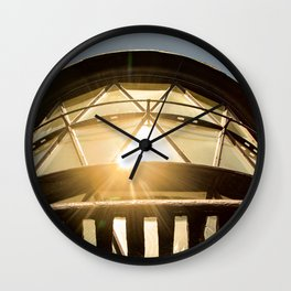 Sun Reflection on Glass Jupiter Lighthouse Architectural / Nature Photograph Wall Clock