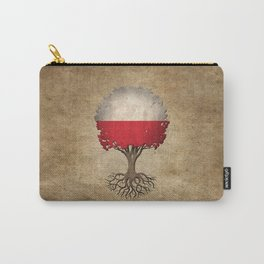 Vintage Tree of Life with Flag of Poland Carry-All Pouch