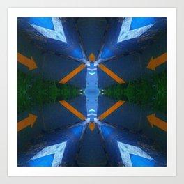 Urban Blue Art Print
