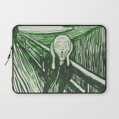 The Scream's Haze (green) Laptop Sleeve
