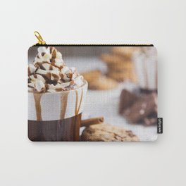 Messy hot chocolate, cream and marshmallows and a choc-chip cookie Carry-All Pouch