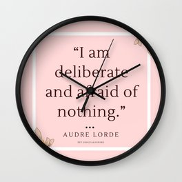 2    Audre Lorde Quote Feminist Literary Quotes Inspiring Feminism Motivational Poem Poetry Gifts Po Wall Clock