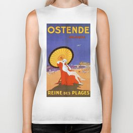 Ostend Queen of beaches jazz age Biker Tank