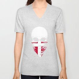 Denmark Skull Tshirt - Denmark Unisex V-Neck