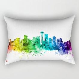 Seattle Washington Skyline Rectangular Pillow