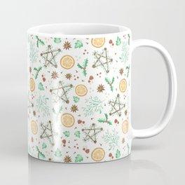 Pagan Yule Solstice Pattern Coffee Mug