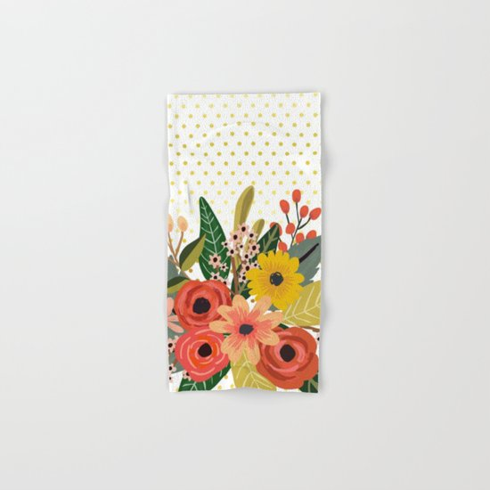 Flowers bouquet #1 Hand & Bath Towel