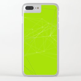 LIGHT LINES ENSEMBLE VII GREEN Clear iPhone Case