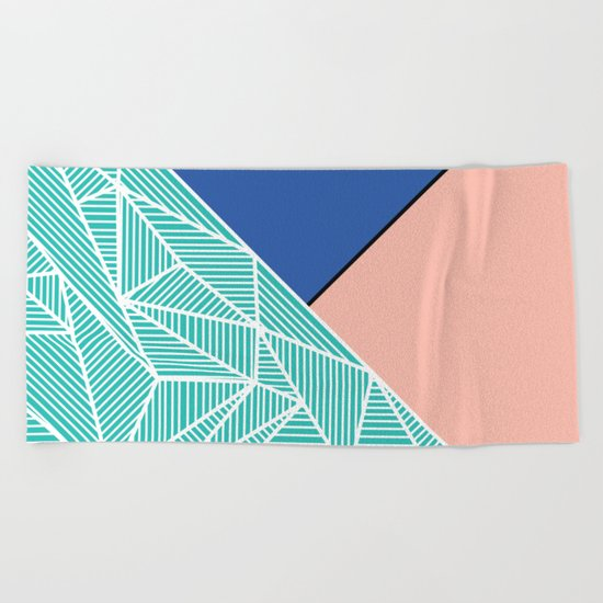 B Rays Geo 4 Beach Towel