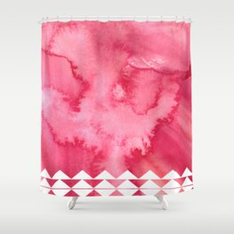 Pink Watercolours Shower Curtain