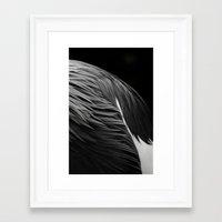 crane Framed Art Prints featuring Crane by Bart De Keyzer