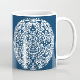 Mayan Calendar // Navy Blue Coffee Mug