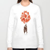 cartoon Long Sleeve T-shirts featuring Almost take off by Picomodi