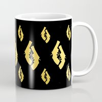 guns Mugs featuring Golden Guns by deff