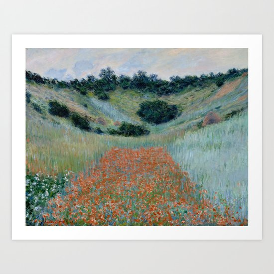 "Claude Monet ""Poppy Field in a Hollow near Giverny"" by alexandra_arts"