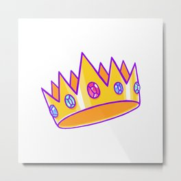 Technoblade crown Metal Print