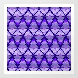 Geometric Forest on Purple Art Print