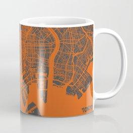 Tokyo Map #2 map orange Coffee Mug